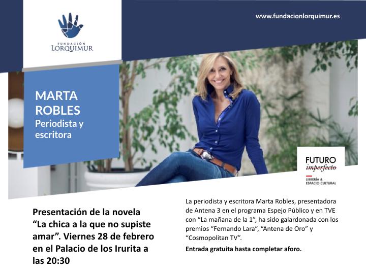 Presentación de la nueva novela de Marta Robles