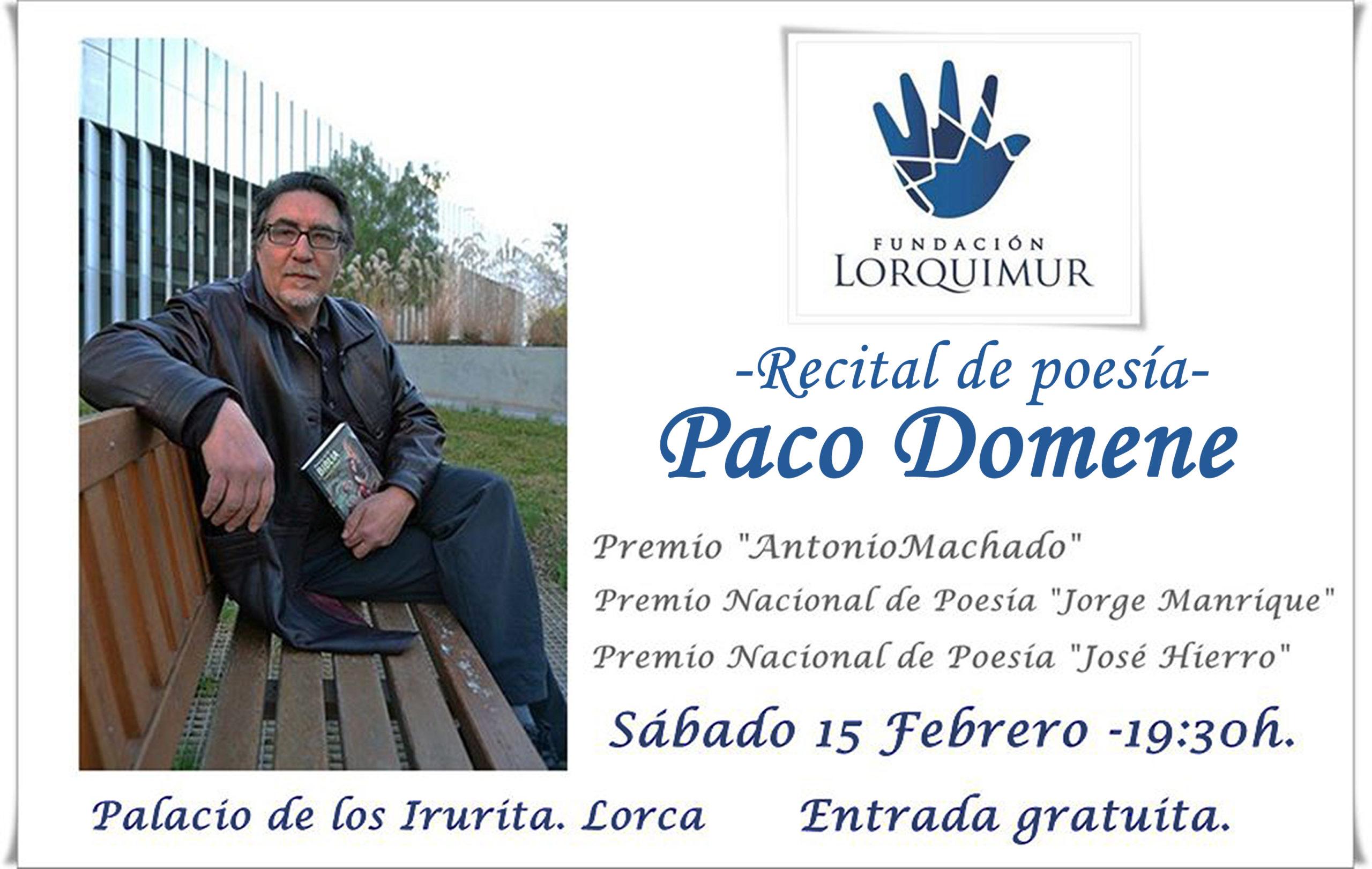 Recital de poesía Paco Domene